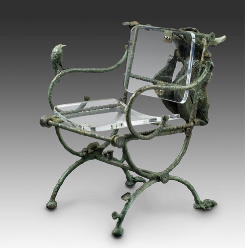 Chair with Bull Skull