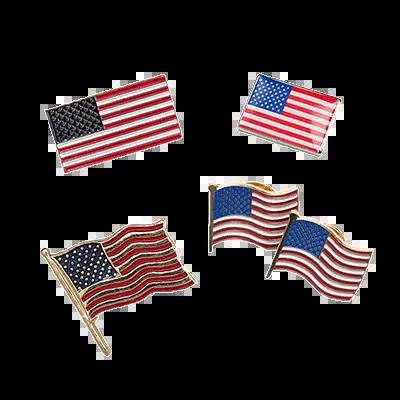 Custom Magnetic Lapel Pins American Flag Pins - iLapelPin.com Custom Lapel Pins Factory China 2