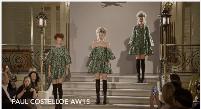 London Fashion Week Paul Costelloe