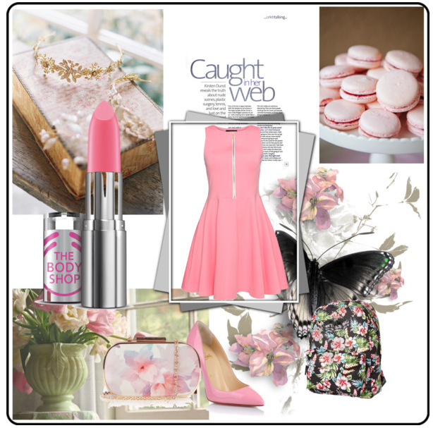 Outfit in rosa Loubotin