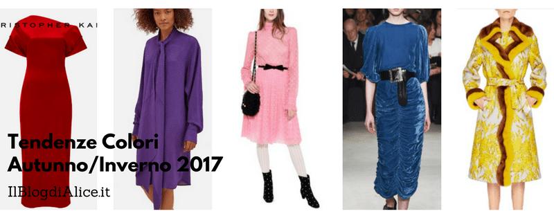 Tendenze Colori 2017