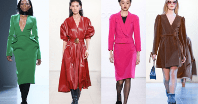 New York Fashion Week autunno/inverno 2020/2021 palette colori