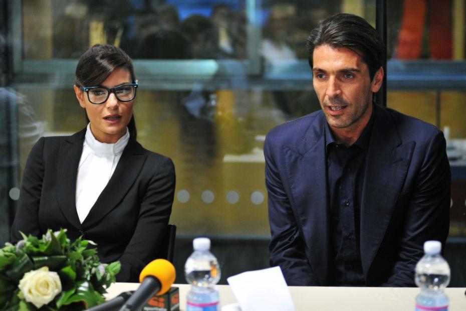 Gigi BUffon e Ilaria d'Amico