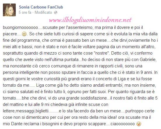 Le scuse segrete di Gabriele Caiazzo a Sonia Carbone dopo la puntata di Temptation Island