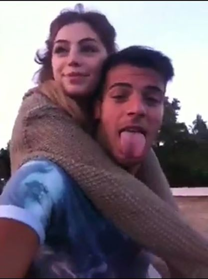 Alessia Cammarota e Aldo Palmeri bacio