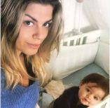 Foto di Eugenio Colombo e Francesca del Taglia con il piccolo figlio Brando