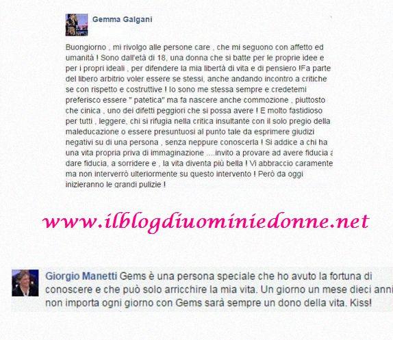Messaggi fra Gemma Galgani e Giorgio Manetti
