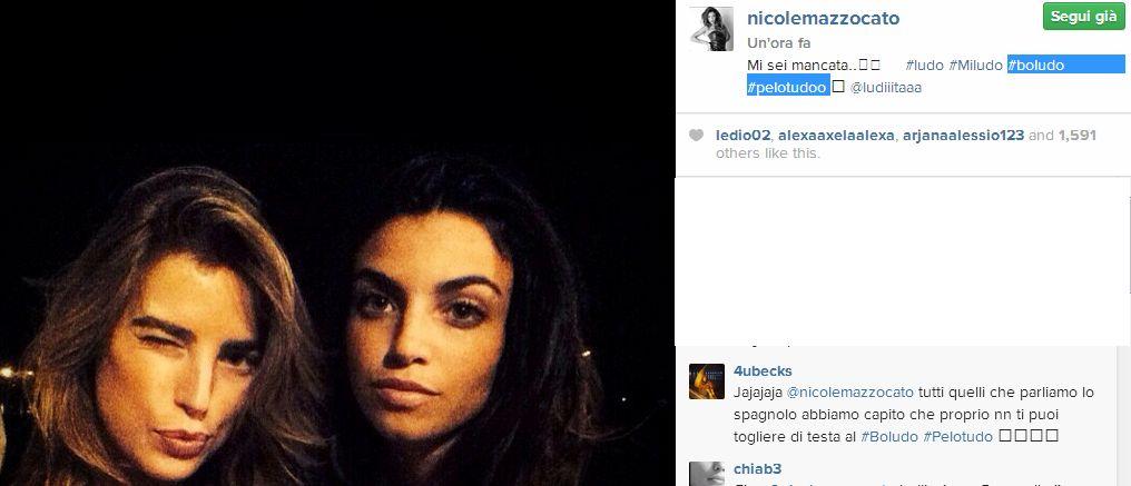 Su Instagram Nicole Mazzocato scrive