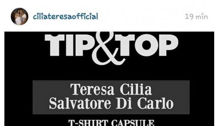Salvatore di Carlo e Teresa Cilia nuova linea Tip Top di abbigliamento