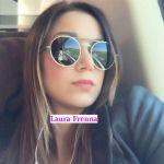 Laura Frenna in treno verso Roma