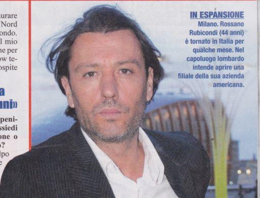 Rossano Rubicondi torna in Italia