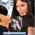 Barbara Francesca Ovieni appena sveglia