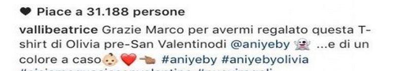 Marco Fantini e Beatrice Valli aspettano una figlia