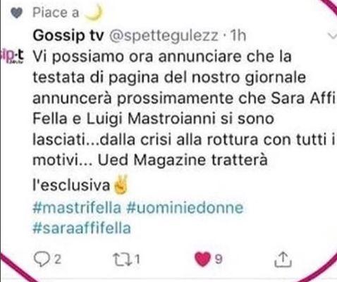 Sara Affi Fella e Luigi Mastroianni si inizia a parlare di rottura