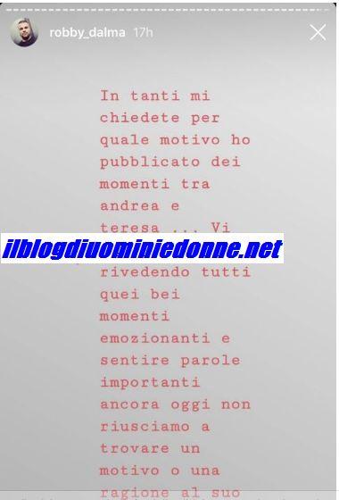 Teresa Langella sulla scelta di Andrea Dal Corso, il duro parere del cugino di lei