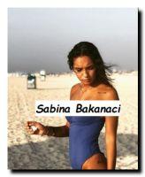 Foto di Sabina Bakanaci al mare in Sardegna