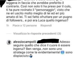 Alessio Campoli  arrabbiato con i fans di uomini e donne