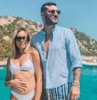 Claudia Dionigi e Lorenzo Riccardi incinta