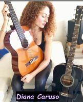 Diana Caruso con la sua chitarra strato caster