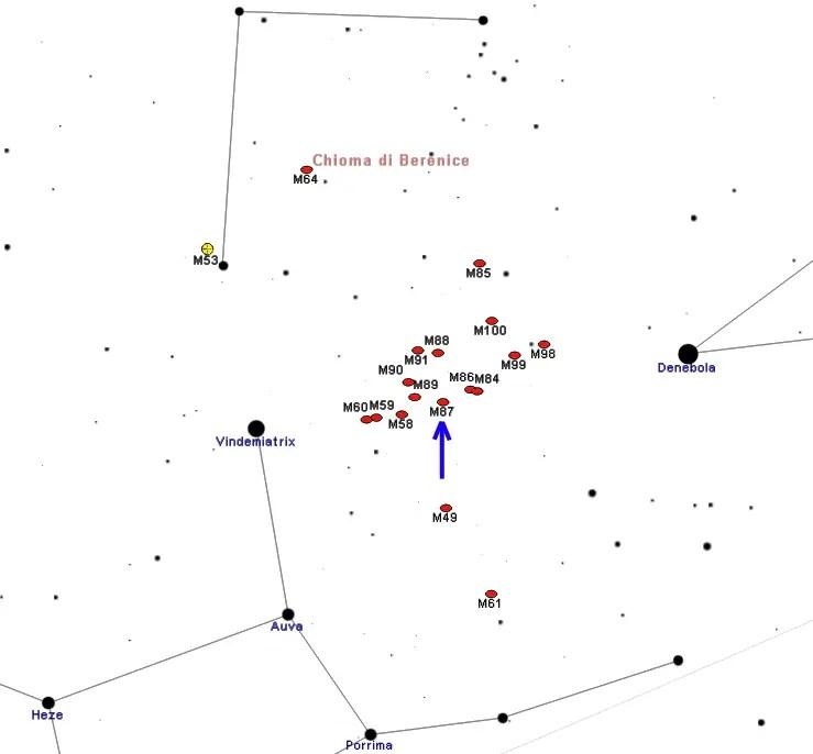 EHT: M87 nella Vergine