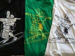Le magliette con la caricatura di Timoncini in beneficenza per Asd