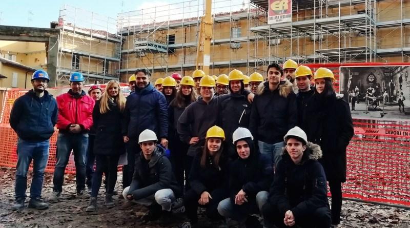 Alcuni momenti della visita degli studenti dell'Oriani agli ex Salesiani, Faenza, 27 novembre 2018 (1)