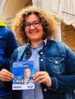La consigliera regionale Manuela Rontini (Pd) sostenitrice di Calenda.