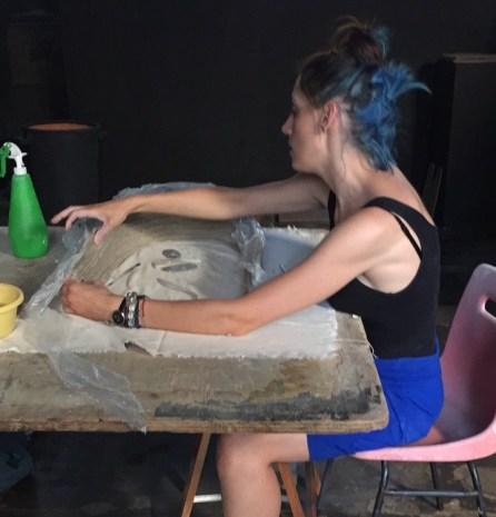 Giulia Bonora al Museo Zauli ph Cristina Casadei