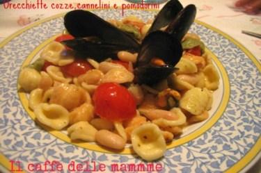 Orecchiette cozze cannellini e pomodorini