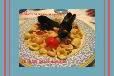 Orecchiette con cozze, cannellini e pomodorini