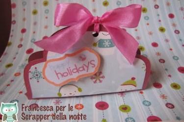 Paper craft portaun burro di cacao