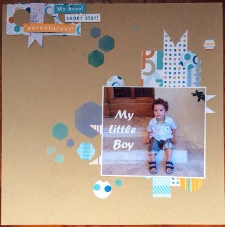 Scrapbooking layout – My little boy