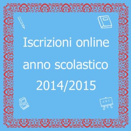 Iscrizioni online anno scolastico 2014/2015
