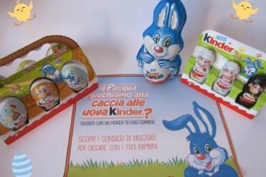 Caccia alle uova di Pasqua con Kinder