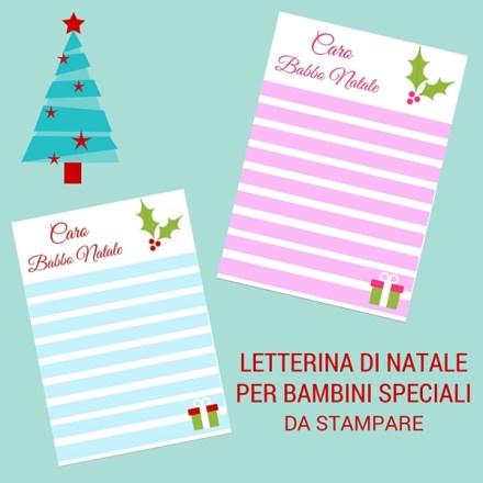 Letterina di Natale per bambini speciali da stampare