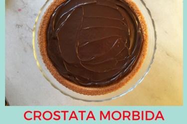 Crostata morbida al cioccolato senza glutine e senza latte