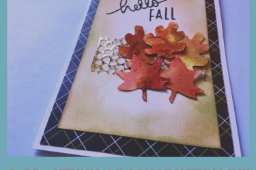 card autunnale con distress ink