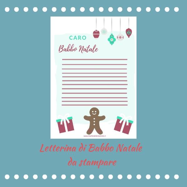 Letterina per Babbo Natale da stampare