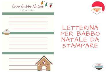 Letterina Babbo Natale da stampare