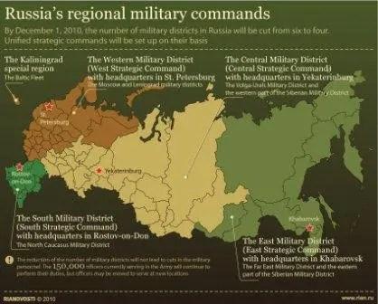 I distretti militari russi.