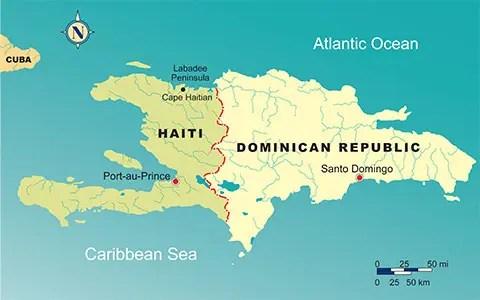 L'isola di Hispaniola, divisa tra Haiti e la Repubblica Dominicana