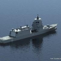 Fig.20 - Rendering del PPA per la Marina Militare. Vista da poppa