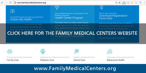family medical centers website redirect button