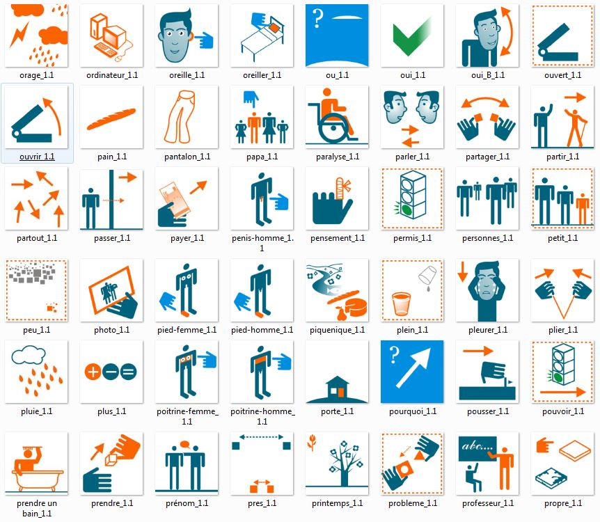 LPL icons set  - Speech and language impairment, research