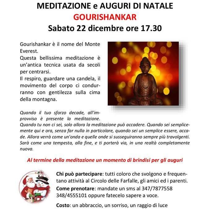 Meditazione e Auguri di Natale sabato 22 Dicembre