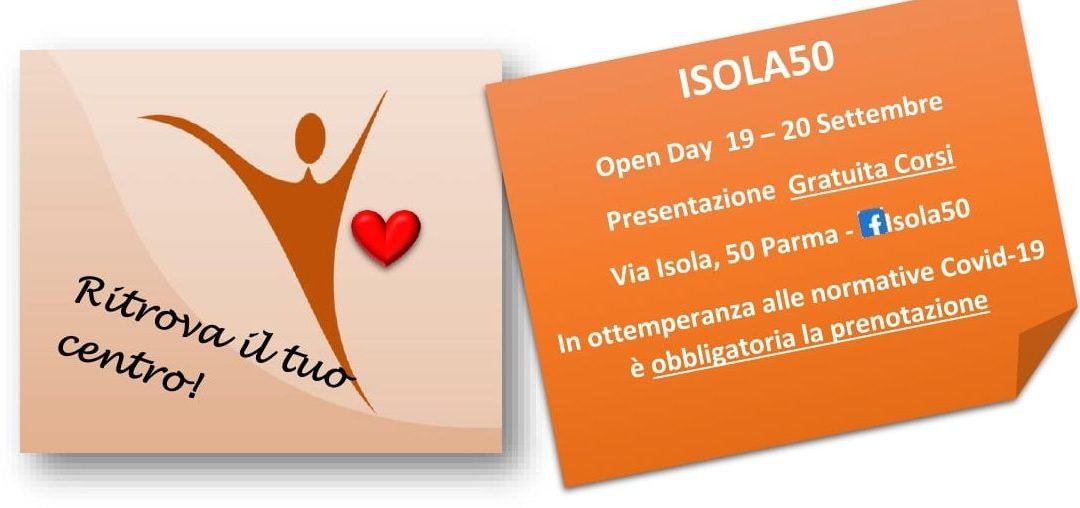 Open day Isola50 evento gratuito. Sabato 19 e Domenica 20 settembre