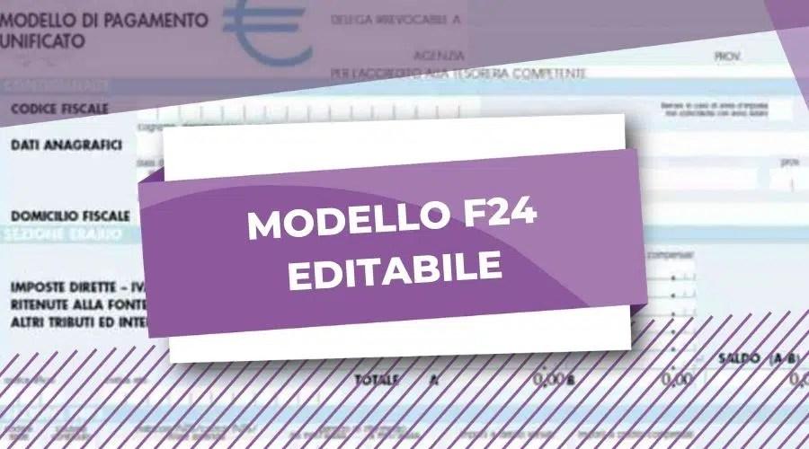 F24 Editabile Istruzioni Il Commercialista Online