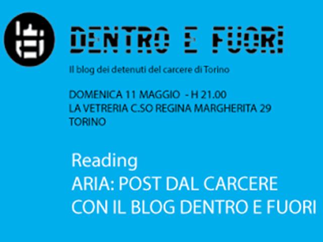 Aria: Post dal Carcere con il blog Dentro e Fuori