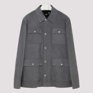 Berluti - Gray Suede Leather Shirt C - (c) Clothing It@50