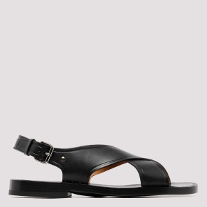 Church`s - Dover Black Leather Sandals R - (r) Shoes Uk@9